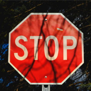Stop sign to end negative self-talk