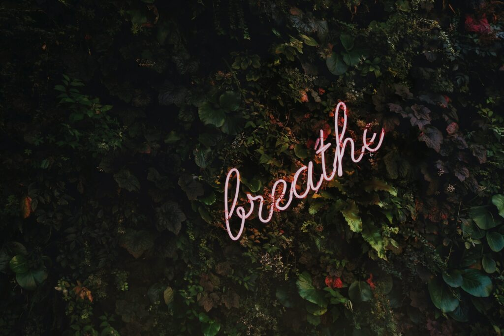 breathe when under stress